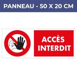 Panneau ACCES INTERDIT - PVC6