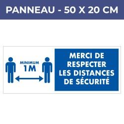 Panneau DISTANCES - PVC7