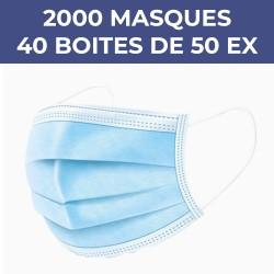 Lot de 40 boîtes de masques...