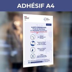 Adhésif A4 - Gestes...